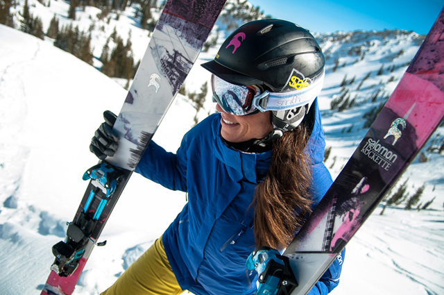 Kim Havell at Alta, UT. For Backcountry.com and Salomon Freeski. Rockette Ski,